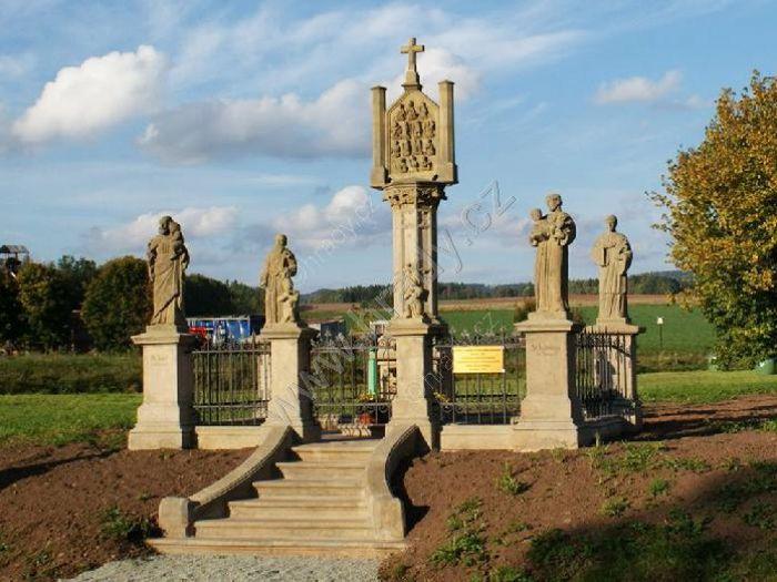 pilíř s reliéfem Čtrnácti svatých pomocníků