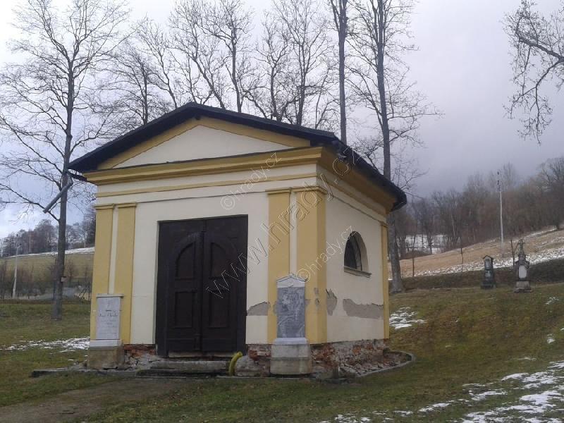 zaniklý hřbitov s kaplí
