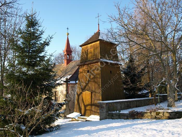 zvonice u kostela sv. Jana Nepomuckého