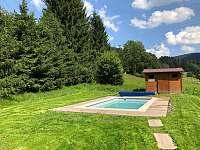 bazén 6 x 3 m - chalupa k pronajmutí Krásná