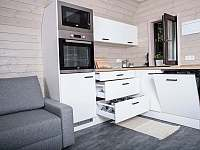 Plně vybavená kuchyň připravená k užívání - apartmán k pronájmu Horní Bečva