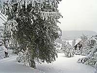 zimní nálada u domu - chalupa k pronajmutí Mosty u Jablůnkova - Šance
