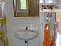 koupelna, vlevo sprchový kout
