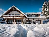 Apartmány Bílá 188 - celkový pohled v zimě - pronájem