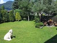 Travnatá zahrada s posezením