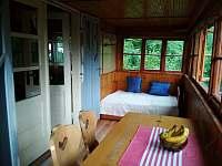 veranda - chata ubytování Chvalčov