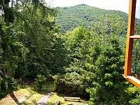 výhled na Hostýn - chata ubytování Chvalčov