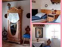 Ložnice pro 2 osoby. - chalupa ubytování Nižní Lhoty