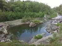 kaňon řeky Morávky je kousek od chaty - Skalice