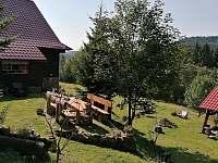 Posezení sepszedu - chalupa ubytování Velké Karlovice - Jezerné