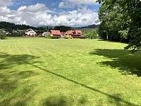 zahrada - srub ubytování Prostřední Bečva