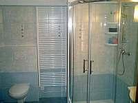 Koupelna se sprchovým koutem a pračkou - Velké Karlovice