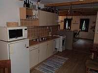 kuchyně - pronájem chalupy Velké Karlovice