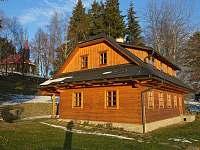 Součástí Domu sv. Josefa je i dřevěnice, která také poskytuje ubytování - Staré Hamry
