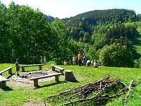 Ohniště u chaty - Horní Bečva