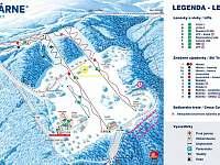 Mapa Ski-areálu - Velké Karlovice