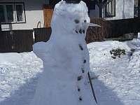 Sněhulák od dětí:-) - chalupa ubytování Nový Hrozenkov