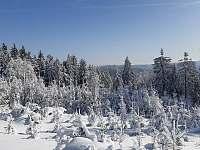 Okolní zimní krajina - pronájem chaty Horní Bečva