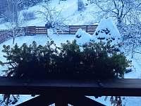 Výhled z balkónu - chata k pronajmutí Horní Bečva