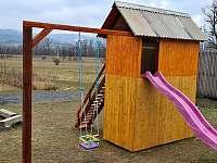 Dětské zázemí - chata k pronajmutí Veselá