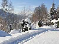 Petrův domeček, výhled - pronájem chaty Nýdek