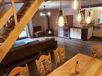 Obývací pokoj s kuchyní - chalupa ubytování Frýdlant nad Ostravicí