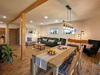 Wellness obývací pokoj - apartmán k pronajmutí Prostřední Bečva