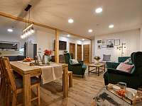 Wellness obývací pokoj - apartmán ubytování Prostřední Bečva