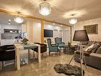 """Aparmán """"DeLuxe""""obývací pokoj s jídelnou - ubytování Prostřední Bečva"""