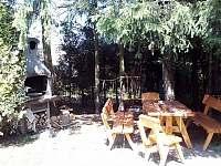 Společné posezení s grilem na zahradě - Kozlovice
