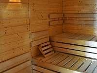 sauna v dřevěnce - chalupa k pronajmutí Staré Hamry