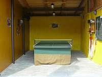 Herna stolního tenisu - pronájem chalupy Dolní Lomná