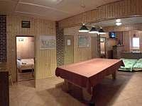 Obývací místnost - chalupa ubytování Dolní Lomná