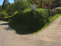 Příjezdová cesta - chalupa ubytování Dolní Lomná
