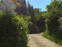 Příjezdová cesta - chalupa k pronajmutí Dolní Lomná