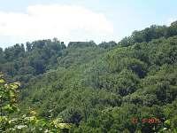 pohled na hrad Hukvaldy -