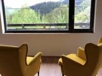 Vyhled ze spolecne mistnosti - pronájem chaty Ostravice