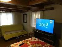 Obývací pokoj - chalupa ubytování Prostřední Bečva