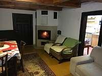 Obývací pokoj - pronájem chalupy Prostřední Bečva