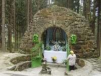 Lurdská jeskyně Sv.Panny Marie se zázračnou vodou na oční neduhy