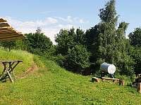 příjezdová cesta - pronájem chaty Huslenky