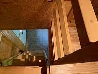 Strmné mlynářské schody do podkroví - Lužná u Vsetína