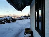 Zimní výhled na Lysou horu - chalupa k pronájmu Palkovice