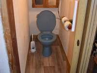 wc - chalupa k pronajmutí Nýdek