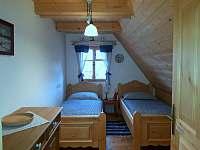 Modrá ložnice malá - pronájem chalupy Komorní Lhotka