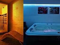 privátní wellness - vířivka a sauna (příplatková služba ) - chatky ubytování Halenkov