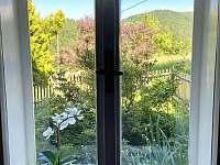 Výhledy do zeleně a kopců - chalupa ubytování Solanec pod Soláněm