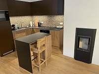 Kuchyň - apartmán ubytování Velké Karlovice