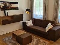 Obývací pokoj - rozkládací sedačka - pronájem apartmánu Velké Karlovice