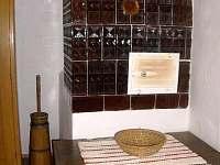Kachlová kamna - chalupa ubytování Kunčice pod Ondřejníkem